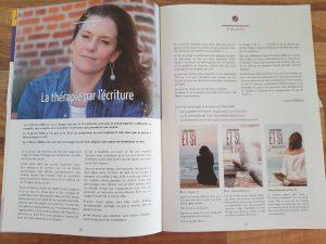 La thérapie par l'écriture (article de la Clef)